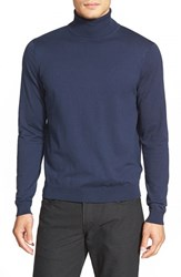 Men's Calibrate Silk Blend Turtleneck Sweater Navy Iris