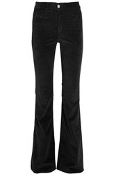 Mih Jeans M.I.H Marrakesh Velvet Flared Pants Black