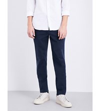 7 For All Mankind Slimmy Slim Fit Tapered Stretch Cotton Chinos Navy