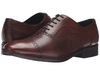 Messico Loreto Burnished Cognac Leather Shoes Brown
