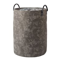 Aquanova Olav Laundry Basket Silver Grey