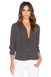 Marc By Marc Jacobs Viscose Polka Dot Blouse Black