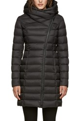 Soia And Kyo Hooded Down Puffer Jacket Black