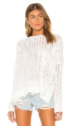 Cupcakes And Cashmere Romy Sweater In White. Ivory