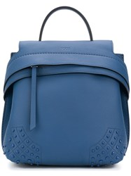 Tod's Wave Backpack Blue