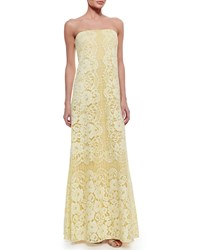 Erin Fetherston Strapless Lace Gown Lemongrass