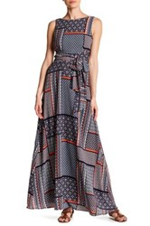 Eva Franco Clarissa Printed Maxi Dress Blue