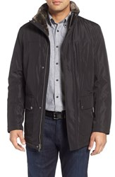 Cole Haan Men's Faux Fur Lined Water Resistant Parka