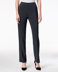 Styleandco. Style Co. Petite Straight Leg Tummy Control Pants Deep Charcoal
