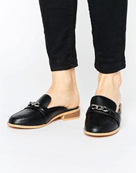 Truffle Collection Mule Loafer Shoe Black