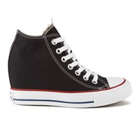 Converse Women's Chuck Taylor All Star Lux Hidden Wedge Canvas Trainers Black