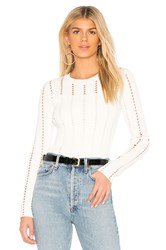 Bailey 44 Siberian Pointelle Rib Sweater White