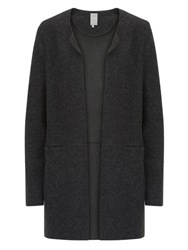 Betty And Co. Boiled Wool Cardigan Black Grey