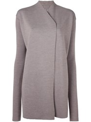 Rick Owens Oversized Cardigan Grey