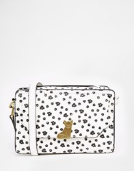 Nica Small Cross Body In Floral Print Black White Floral
