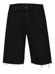 Topman Aaa Black Raw Edge Long Length Shorts