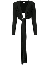 Christophe Lemaire Wrapover Cardigan Virgin Wool M Black