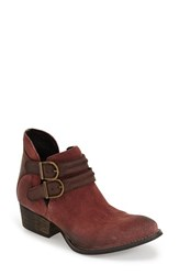 Women's Rebels 'Calista' Ankle Boot Brick Red Brown Leather