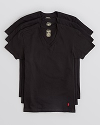 Polo Ralph Lauren Men's 3 Pack V Neck Tees Black