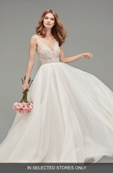 Watters Mihr Beaded Tulle And Organza Ballgown Ivory Blush