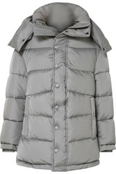 Balenciaga Swing Oversized Padded Shell Coat Gray