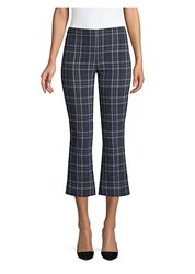 Bailey 44 Campus Plaid Cropped Bell Pants Midnight Blue