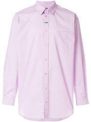 Martine Rose Oversized Shirt Pink And Purple