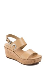 Latigo Lauren Platform Wedge Sandal Buff Leather