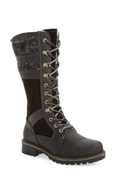 Bos. And Co. Women's Holding Waterproof Boot Black Leather