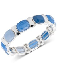 Nine West Multi Stone Stretch Bracelet Blue