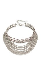 Dannijo Odion Choker Necklace Ox Silver Light Pink
