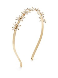 Rosantica By Michela Panero Daisy Faux Pearl Embellished Headband Gold Multi