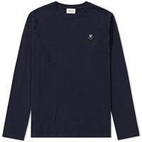 Wood Wood Long Sleeve Peter Tee Blue