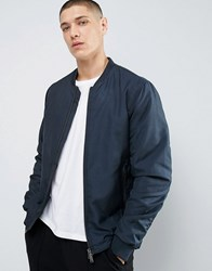 Selected Homme Bomber Jacket With Two Way Zip Dark Blue Navy