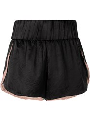 Di Liborio Elasticated Hem Shorts Black