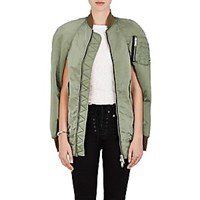 Unravel Distressed Insulated Bomber Cape Olive