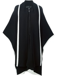 Barbara Bui Zipped Long Poncho Black
