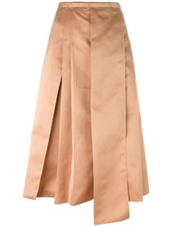 Rochas Pleated Detail Skirt Pink And Purple