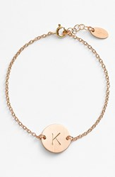 Women's Nashelle 14K Gold Fill Initial Disc Bracelet 14K Gold Fill K