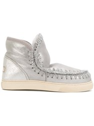 Mou Eskimo Boots Women Cotton Sheep Skin Shearling Rubber 39 Grey