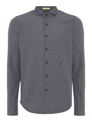 Replay Men's Patterned Cotton Shirt Blue