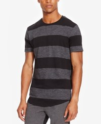 Kenneth Cole Reaction Men's Striped Heathered T Shirt Black