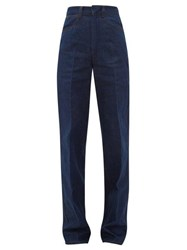 Christophe Lemaire Dolly High Rise Straight Leg Jeans Dark Blue