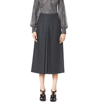 Michael Kors Herringbone Jacquard Wool Skirt Black Grey