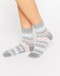 Asos Christmas Glittery Fairisle Ankle Socks In Bauble Multi