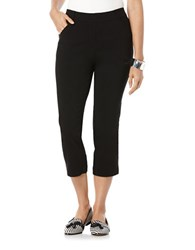 Rafaella Power Stretch Skinny Capris Black