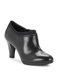 Anne Klein Dalayne Leather Ankle Booties Black