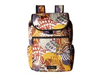 Vera Bradley Lighten Up Drawstring Backpack Painted Feathers Backpack Bags Multi