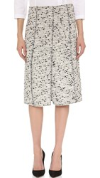 Nina Ricci Tweed Skirt White Black