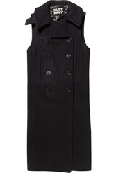 Nlst Double Breasted Wool Blend Vest Blue